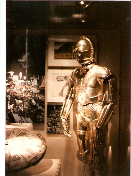 C-3PO, a bit of the Falcon and an AT-AT