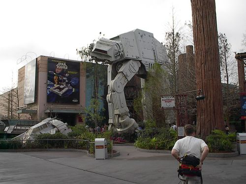 AT-AT outside the Star Tours Hangar